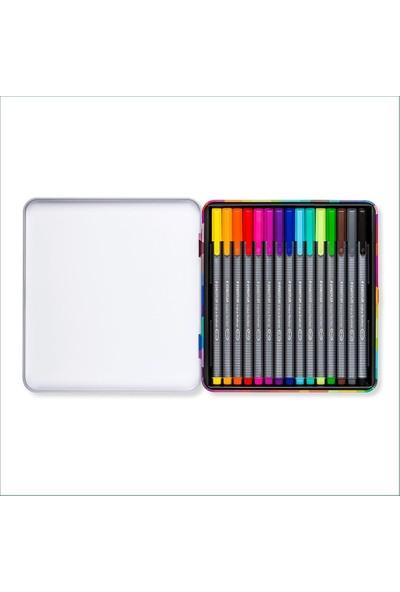Staedtler Triplus Fineliner Brillant Colours 15'Li Kalem