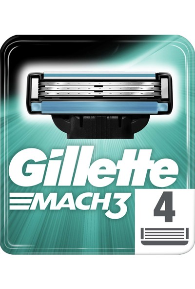 Gillette Mach3 4'lü Yedek Tıraş Bıçağı