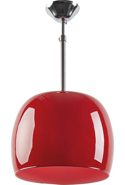Sarper Dizayn Sarper Opal Kırmızı Cam Sarkıt