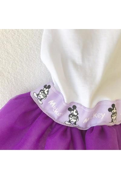 Kemique Purple Mıkı Kedi Elbisesi Tutu