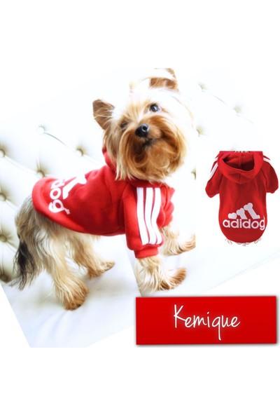 Kemique Adıdog Sweatshirt Kırmızı