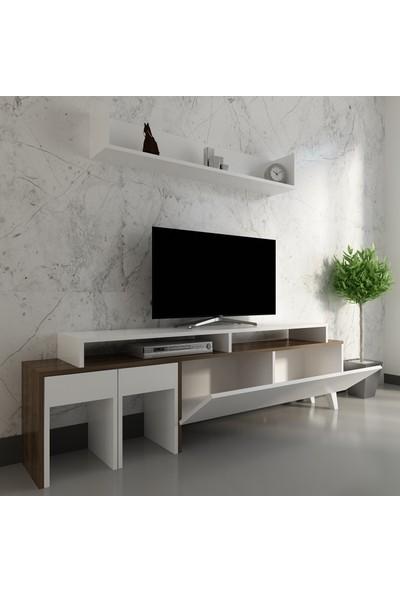 Arnetti Tango Tv Ünitesi Beyaz Ceviz