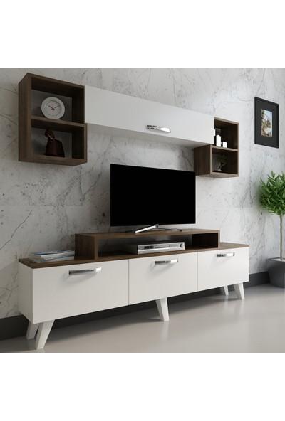 Arnetti Zenne Tv Ünitesi Beyaz Ceviz