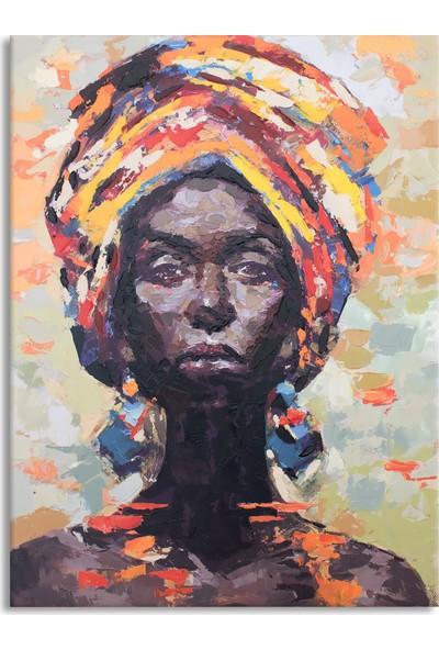 Arte Casero Kadın Yağlı Boya Tablo 60x90 cm