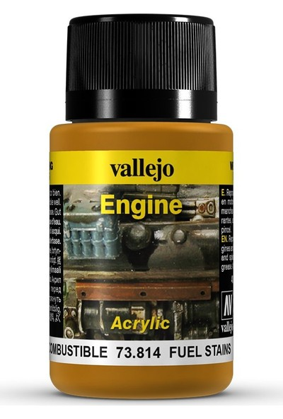 Vallejo Weathering Effects 40Ml Fuel Stains Engine 73.814