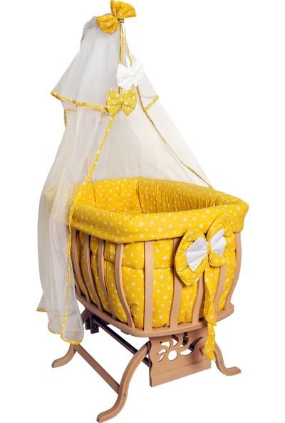 Bebetti Natural Fiyonklu Sallanır Sepet Beşik Sarı