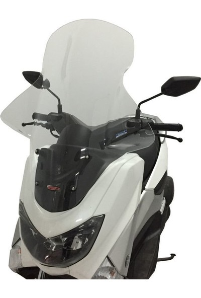Gp Kompozit Yamaha Nmax 125-155 Elcikli Ön Cam 2015-2018 Şeffaf - 74 Cm
