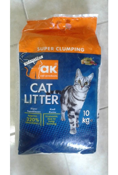 Akkum Topaklaşan Kedi Kumu Marsilya Sabunlu Kalın Taneli 10 kg (2 Paket)