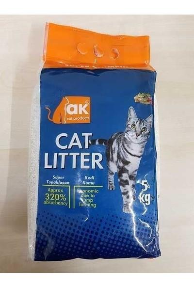 Akkum Topaklaşan Kedi Kumu Marsilya Sabunlu Kalın Taneli 5 kg
