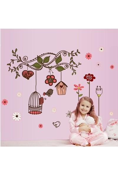 Crystal Kids Ağaç Dalı Kuşlar Çiçekler Ev Dekorasyonu Duvar Dekoru Sticker Çıkartma