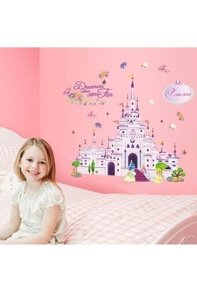 Crystal Kids Kız Çocuk Odası Duvar Dekoru Prenses Şatosu PVC Duvar Sticker