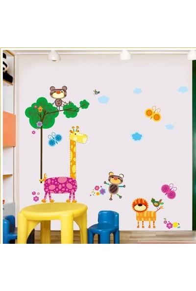 Crystal Kids Rengarenk Hayvanlar Çocuk ve Bebek Odası Duvar Dekoru