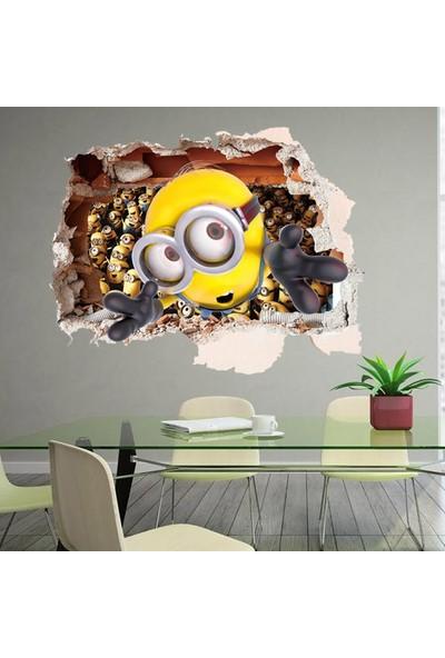 Crystal Kids Çocuk Odası Duvar Dekoru Minions Minyonlar 3D Duvar Sticker