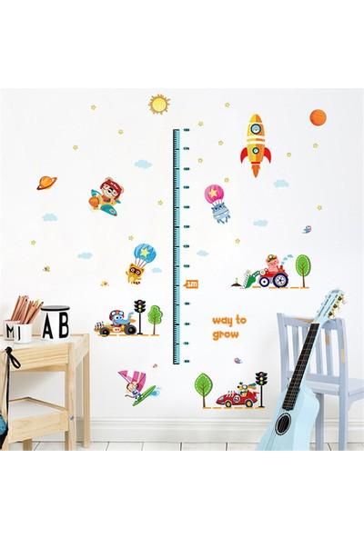 Crystal Kids Roket Boy Ölçer Çocuk ve Bebek Odası Duvar Dekoru Sticker