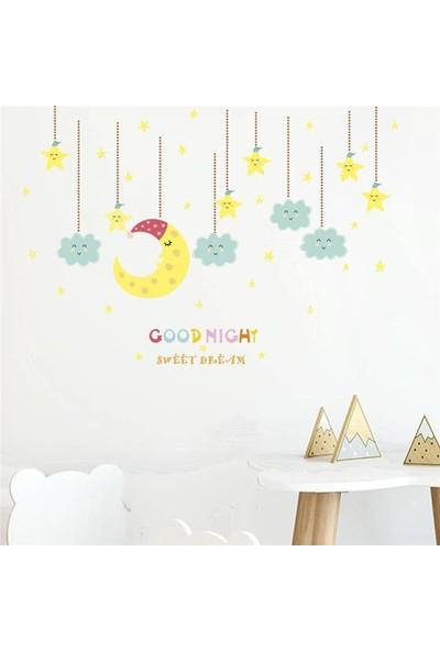 Crystal Kids Aydede ve Bulutlar Bebek ve Çocuk Odası Dekorasyonu Duvar Sticker