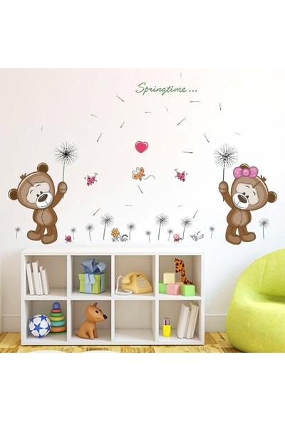 Crystal Kids Sevimli Ayıcıklar Bebek ve Çocuk Odası Dekorasyonu Duvar Dekoru Sticker