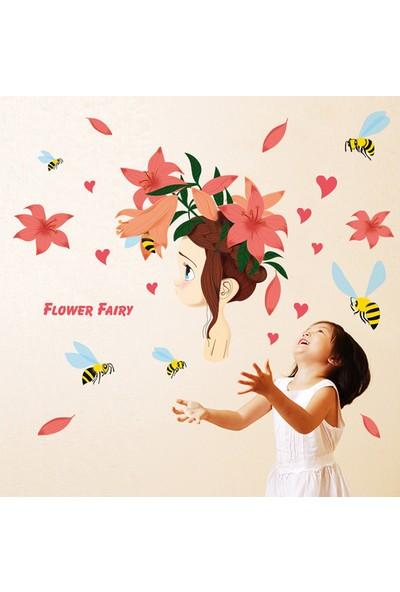 Crystal Kids Çiçek Perisi Kız Çocuk Odası Dekoru Ev Dekorasyonu Duvar Sticker