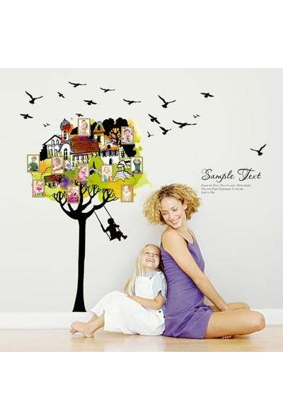 Crystal Kids Ağaç ve Hatırlar Resim Çerçeveli Ev Salon Çocuk Odası Duvar Dekoru Sticker