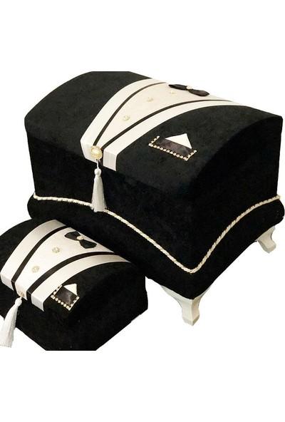 Çeyizci Çeyiz Sandığı Yaka Cepli Damat Model - Siyah
