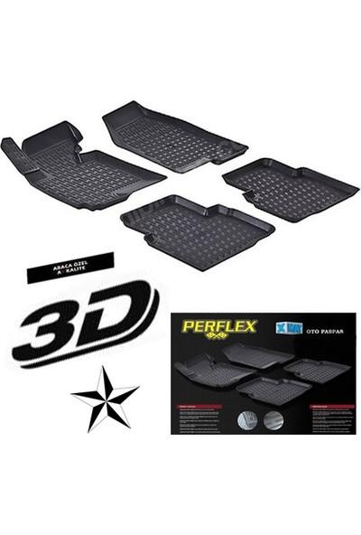 Perflex Peugeot Bipper 3D Havuzlu Paspas Perflex X-Mat 3D Paspas 2007