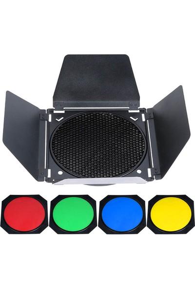 Godox BD-04 Renkli Filtre & Petek Seti ( 200mm Çaplı )