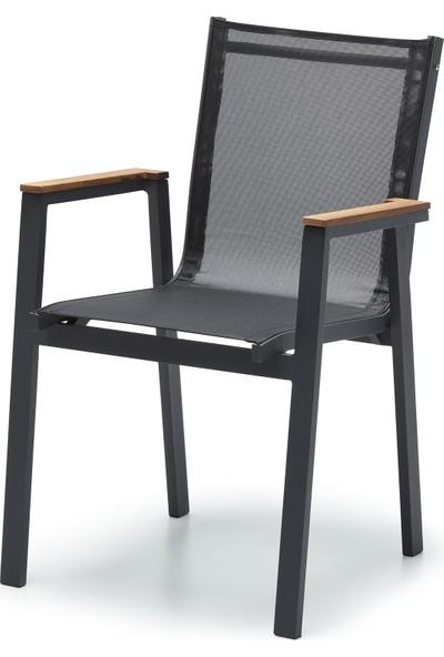 Ottowa Alüminyum Sandalye Antrasit Renk