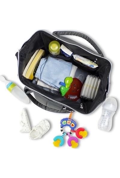 My Valice Smart Bag Happy Mom Usb Girişli Anne Bebek Bakım Ve Sırt Çantası Gri