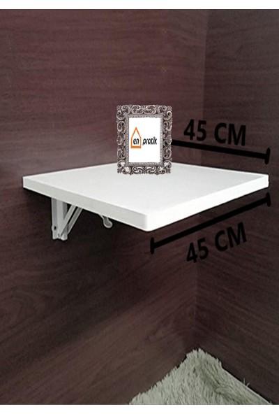 En Pratik Beyaz Katlanır Duvara Monte Çalışma Masası 45/45