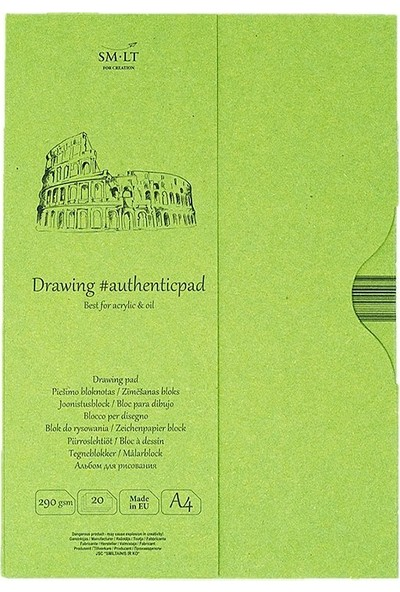 Sm Drawing Pads Authentic Acrylic A4 20Yp 290G