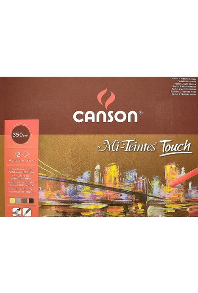 Canson Mi-Teintes Touch 350Gr 12Yp A3