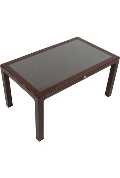 Mandella Wood 90X150 Camlı Masa