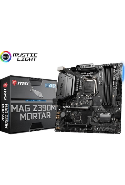 MSI MAG Z390M MORTAR 1151 DDR4 4400(OC) HDMI DVI DISPLAY M.2 USB3.1 RGB mATX