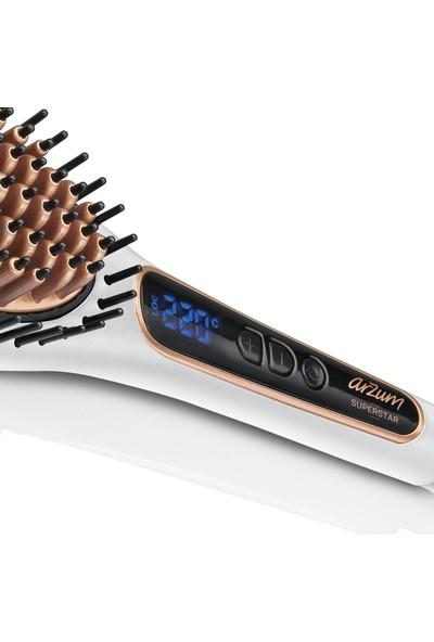 Arzum AR5041 Superstar Pearl Saç Düzleştirici Fırça