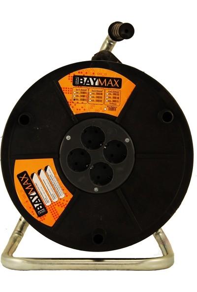 BAYMAX 3x1.5mm 50 Metre Seyyar Makaralı Kablo