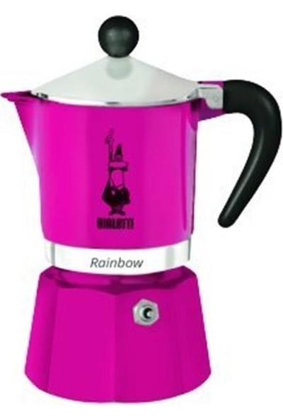 Bialetti Moka Pot Rainbow 3 Cup Fuşya