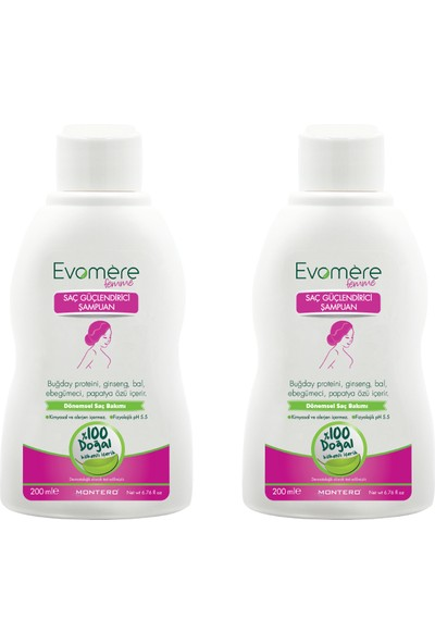 Evomere Femme Saç Güçlendirici Şampuan 2'li Paket
