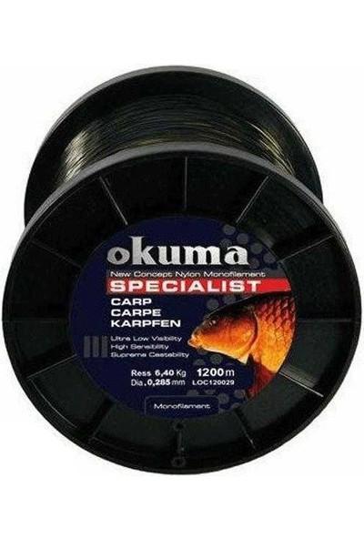 Okuma Carp 1200 Mt 25,00 Lb 11,36 Kg 0,40 Mm Camou Misina