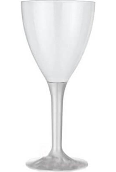 Partifabrik Plastik Şarap Bardağı Şeffaf Ayaklı Kadeh