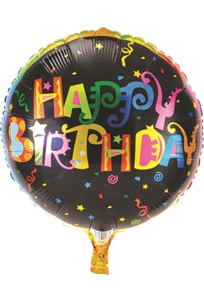 Partifabrik Happy Birthday Gökkuşağı Folyo Balon
