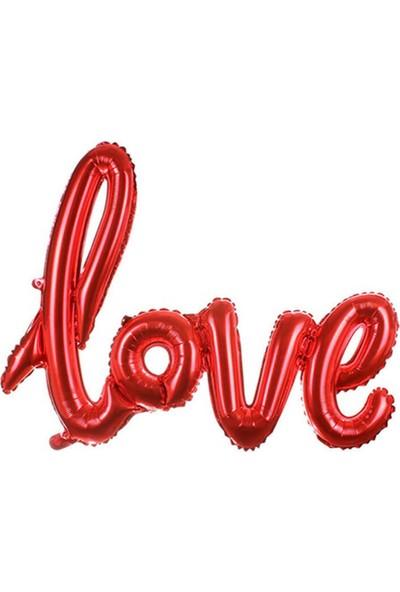 Partifabrik Love İmza Folyo Balon Kırmızı