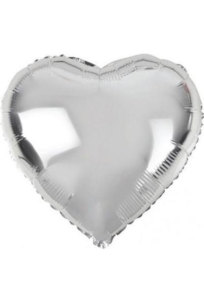 Partifabrik Gümüş Kalp Folyo Balon 40 cm
