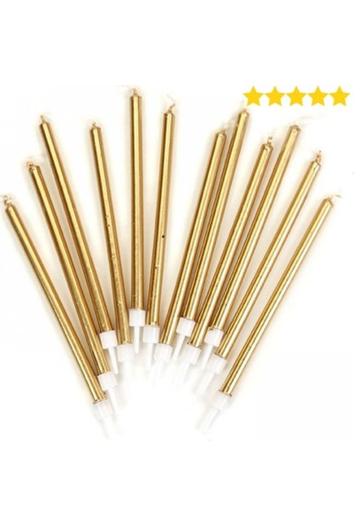 Partifabrik Gold Pasta Mumu 7 cm 12 Adet
