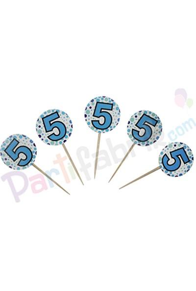 Partifabrik 5 Yaş Mavi Temalı Kürdan