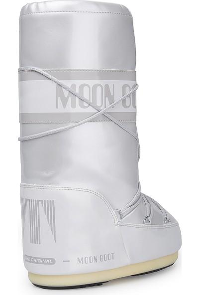 Moon Boot 14021400-002 Vinile Met White Kadın Bot Beyaz