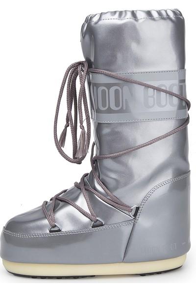Moon Boot 14021400-004 Vinile Met Silver Kadın Bot Gümüş