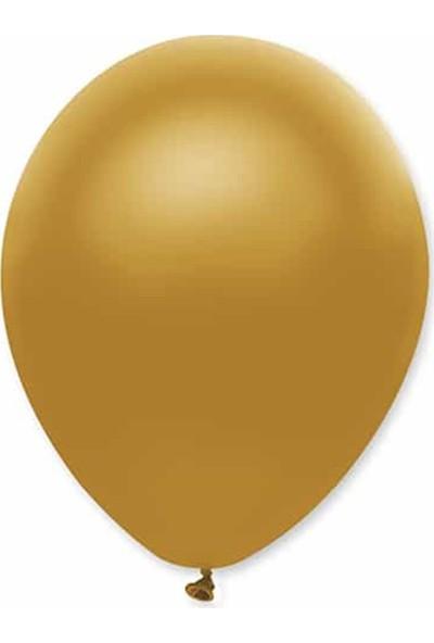Partifabrik Altın Renk Metalik Balon 5'Li
