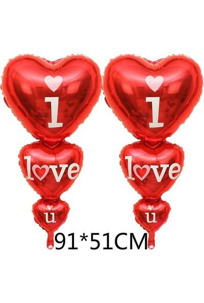 Partifabrik I Love You 3 lü Kalp Balon