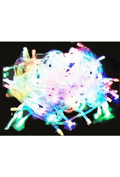 Partifabrik Yılbaşı Renkli Led Işık 10m Şeffaf Kablo