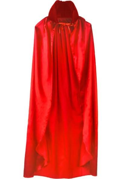 Partifabrik Halloween Yakalı Pelerin Kırmızı 140x140