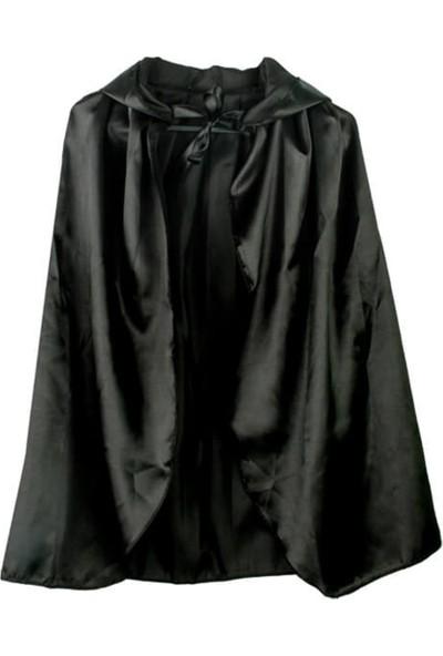 Partifabrik Halloween Kapşonlu Siyah Pelerin 90cm